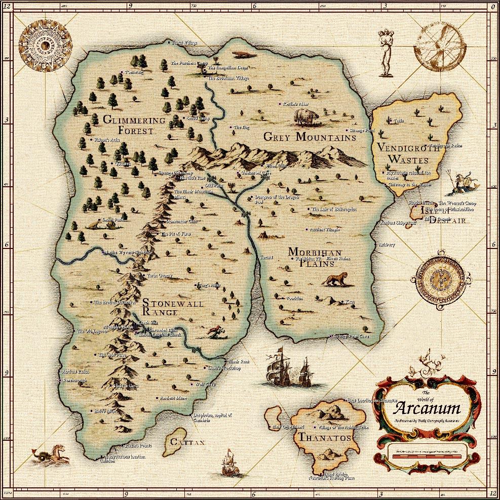 Mike's RPG Center   Arcanum   Maps