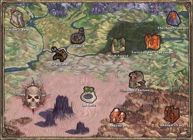 Mike S Rpg Center Baldur S Gate Ii Maps Throne Of Bhaal