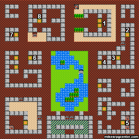 Mike S Rpg Center Dragon Warrior Maps Cantlin