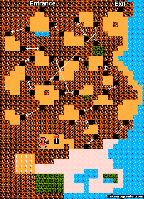 Mike's RPG Center - Zelda II - Maps - Mountain on