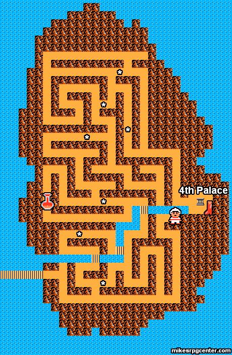 Mike's RPG Center - Zelda II - Maps - Island Maze on